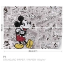 Disney Mickey Mouse Newsprint Vintage